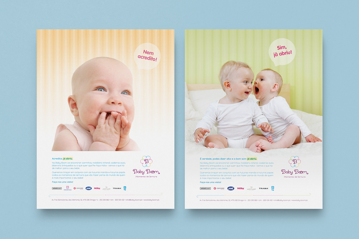 Pi creative studio creation and communication of baby for Baby boom salon
